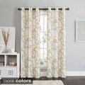 Rebecca Floral 84-inch Grommet Top Blackout Curtain Panel Pair
