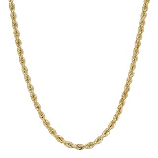 Fremada 14k Yellow Gold 2.9-mm Rope Chain Necklace (18 - 24 inches)