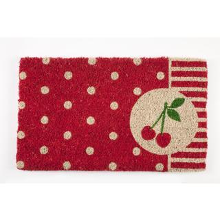 Cherries Handwoven Coconut Fiber Doormat