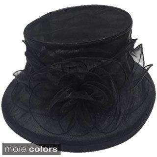 Women's Organza Flower Packable Hat