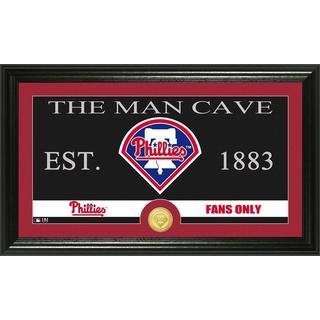 Philadelphia Phillies The Man Cave Bronze Coin Panoramic Photo Mint