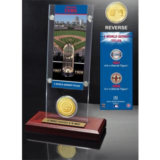 Chicago Cubs World Series Ticket and Bronze Coin Acrylic Desktop