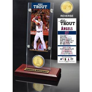 Mike Trout Ticket and Bronze Coin Desk Top Acrylic