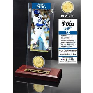Yasiel Puig Ticket and Bronze Coin Acrylic Desk Top