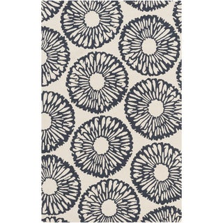 Hand-Hooked Cole Floral Rug (9' x 12