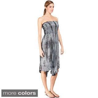 Women's Om Tie-Dye Pattern Convertible Tube Dress/ Skirt (Nepal)