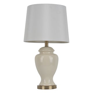 24 inch cream ceramic table lamp today save 22 5 0 1. Black Bedroom Furniture Sets. Home Design Ideas