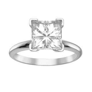 Charles & Colvard 14k Gold 3 1/10ct. Classic Square Moissanite Solitaire Ring