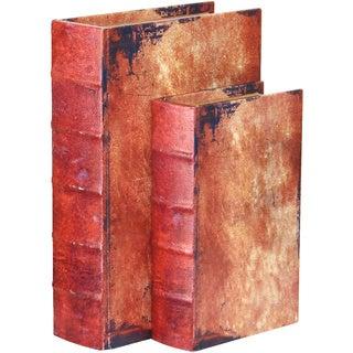 Vintage Book Box (Set of 2)