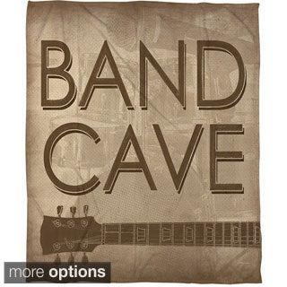 Thumbprintz Band Cave Coral Fleece Throw