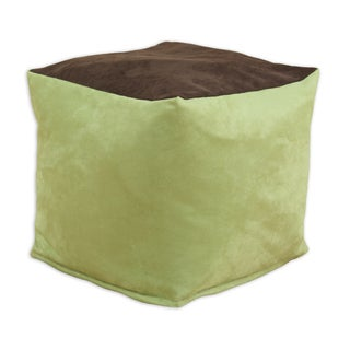 Somette Passion Suede Celery 12.5-inch Square Footstool