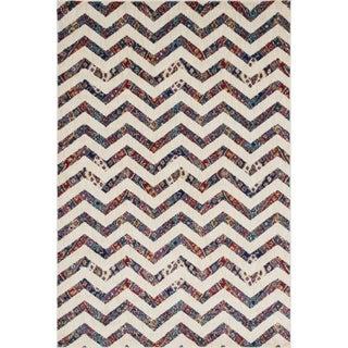 Sadie Ivory/ Multi Chevron Rug (7'7 x 10'5)