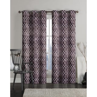 Victoria Classics Andreas Grommet Top 96-inch Curtain Panel Pair