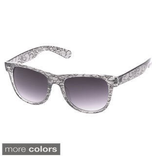 EPIC Eyewear 'Giana' Black Lace Wayfarer Fashion Sunglasses