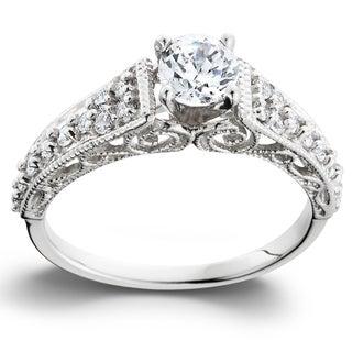 Bliss 14k White Gold 3/5TDW Vintage Diamond Engagement Ring (H-I, I1-I2)