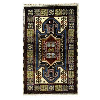 Herat Oriental Afghan Hand-knotted Tribal Kazak Ivory/ Red Wool Rug (3' x 5')