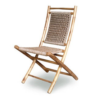 Heather Ann Bamboo Folding Chairs (Set of 2)