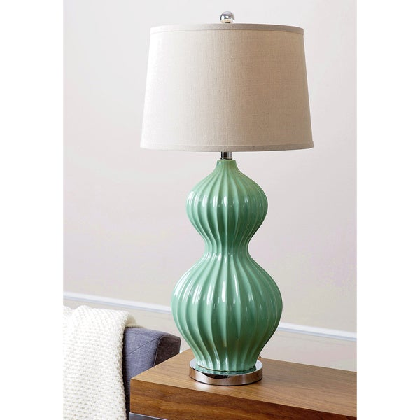 Abbyson living large white fluted large table lamp