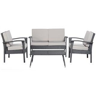angelo:HOME Napa Estate Luxe Grey 4 piece Wicker Indoor/Outdoor Set