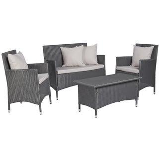 angelo:HOME Napa Estate Grey 4 piece Wicker Indoor/Outdoor Set