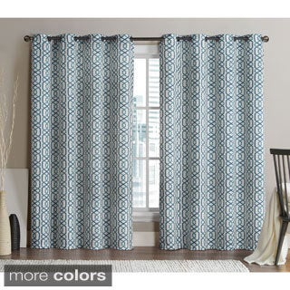 Victoria Classics Alexander 84-inch Blackout Printed Curtain Panel Pair