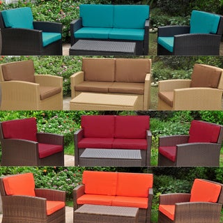 International Caravan Corded Replacement Cushions for Valencia Settee Group (Set of 8)