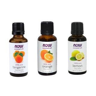 Now Foods Orange, Lemon, Tangerine 1-ounce Essential Oils (Pack of 3)