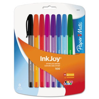 Paper Mate InkJoy 100 Stick Assorted Pen (5 Packs of 8)
