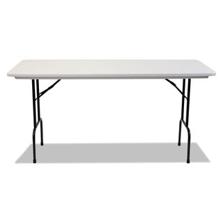 Alera Blow Molded Resin 36 Inch Height Folding Gray Granite Table