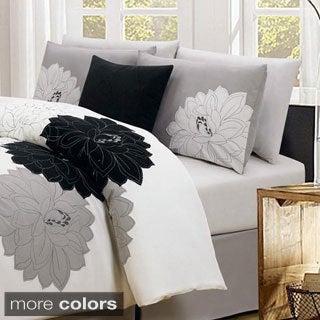 Modern Floral Embroidered 7-piece Comforter Set