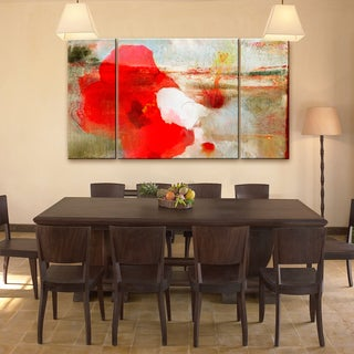 Ready2hangart 'Painted Petals LXII' 3-piece Canvas Wall Art Set