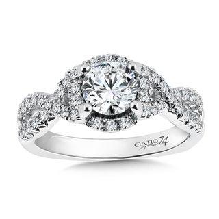 14k White Gold 1 1/6ct TDW Diamond Designer Engagement Ring (F-G, SI1-SI2)