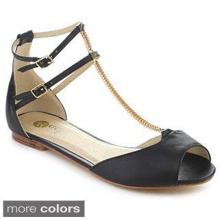 Machi NF-LEEV Women's T-Strap Flat Sandals
