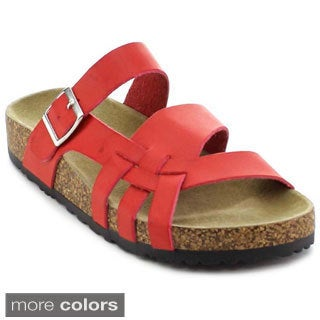 Nature Breeze Melbourne-09 Women's Strappy Buckled Sandal