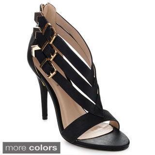 Machi NF-BOADAN Women's High Heel Ankle Strap Stiletto Pumps