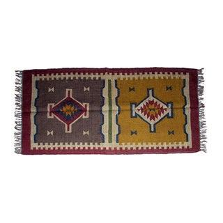 Timbergirl Indo Mustard/brown Wool Jute Kilim Area Rug (3' x 5')