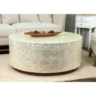 Decorative Monument Natural Off-white Round Coffee Table