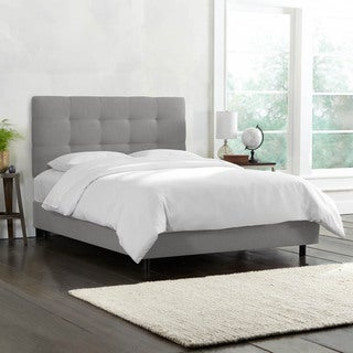 Linen Tufted Cal King Bed