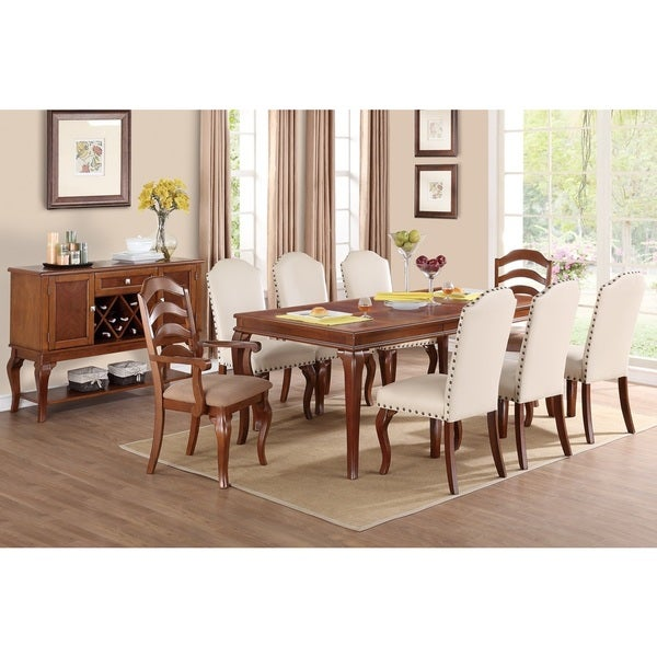 Western Nailhead Dining Chairs (Set Of 6)