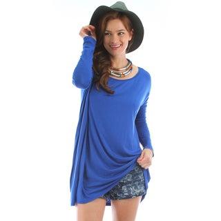 Lyss Loo Oversized Long Sleeve Tunic Dress