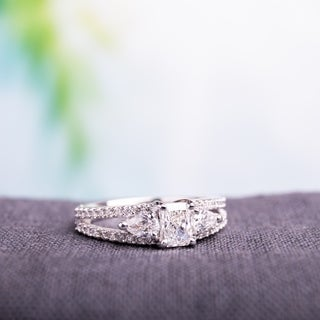 Miadora 14k White Gold 1ct TDW Diamond Engagement Ring (G-H,VS1-VS2)