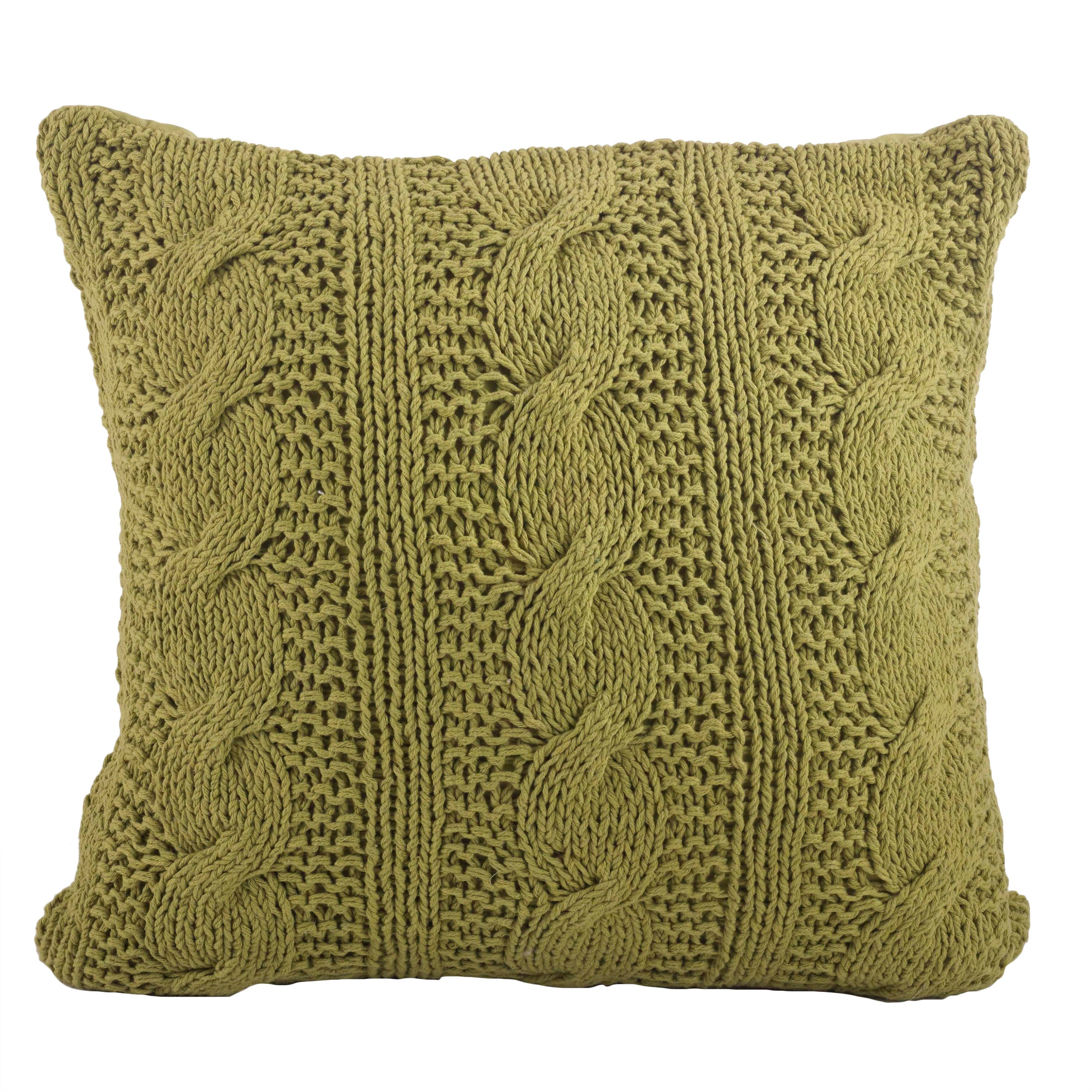 Knitting Pillows : Cable knit design throw pillow overstock shopping