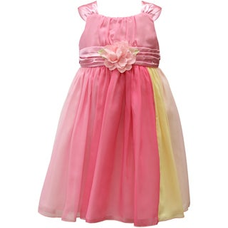 Mia Juliana Little Girls' Multi Color Chiffon Dress