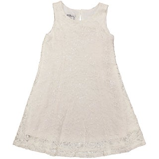 Mia Juliana Little Girls' Fit and Flare Sequin Lace Dress