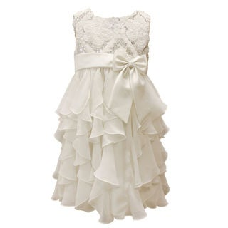 Mia Juliana Baby Girls' Chiffon Cascade Sequin Dress