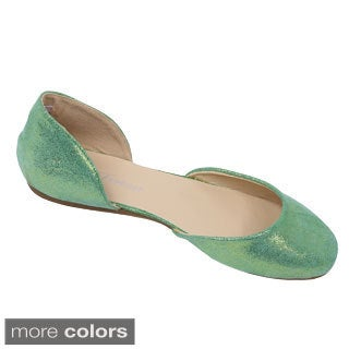 Women's Forever Enjoy-09 Satin D'orsay Flats
