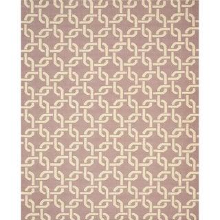 TLNK1PP Purple Handmade Wool Links Dhurrie Rug, (8'9 x 11'9)
