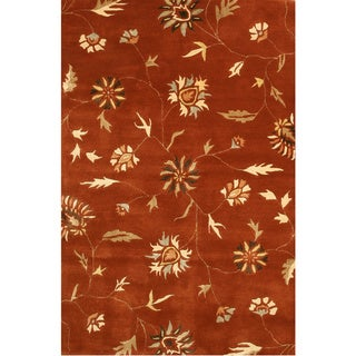 T115IV Ivory Hand-tufted Wool Spring Garden Rug (7'9 x 9'9)