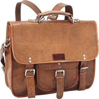 Sharo Brown 3 in 1 Backpack/Messenger/16-inch Laptop Brief Bag