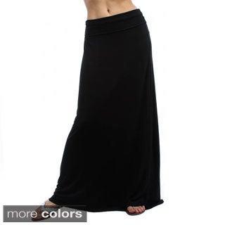 Lyss Loo Women's Fold Over Maxi Skirt